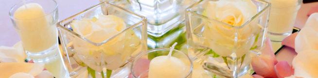 contenants en verre pour bougies