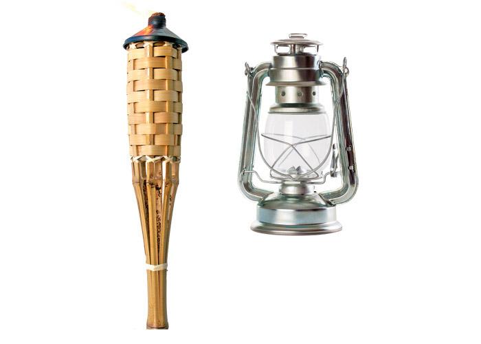 lampe torche et lampe tempete